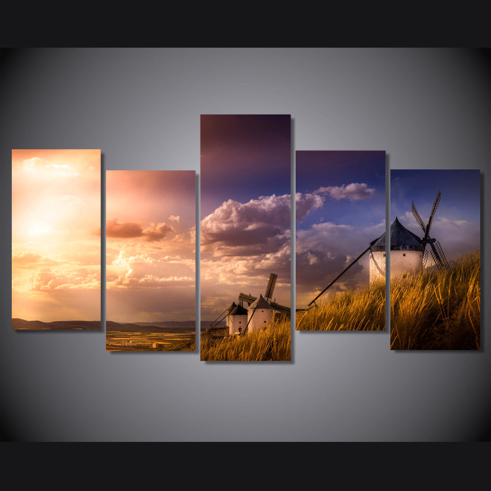 HD Printed Idyllic Natural Scenery Painting Canvas Print Decor Print Poster Picture Canvas