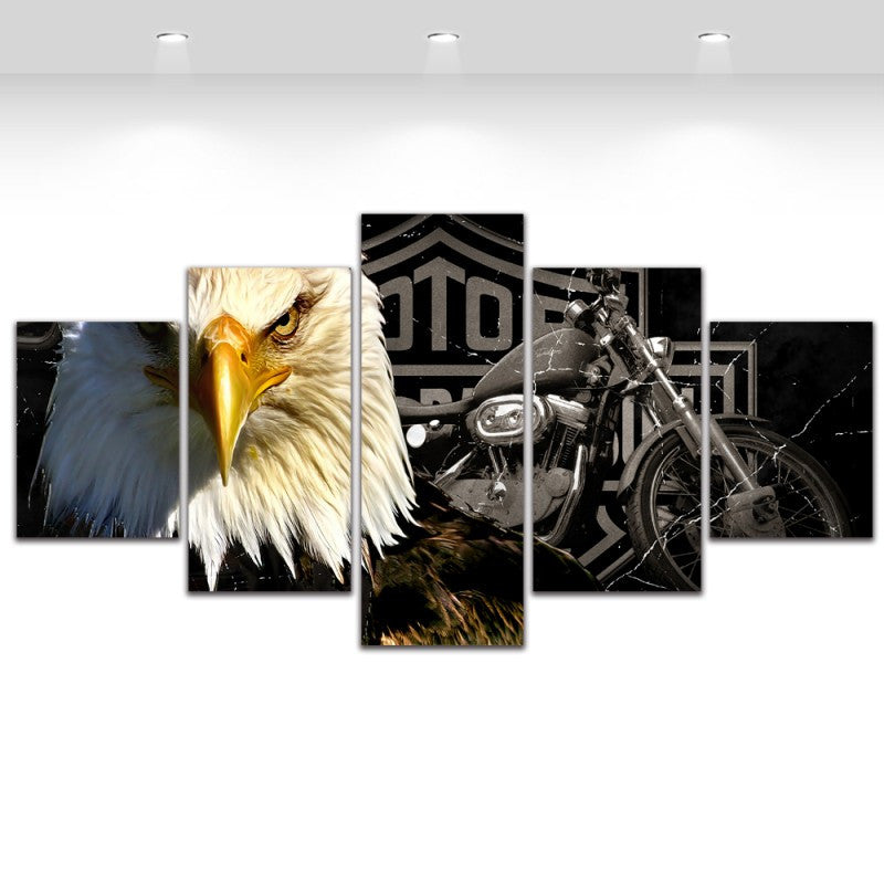 5 Piece Canvas Art Motorcycle Painting Living Room Home Decoration Canvas Prints Wall Art Picture
