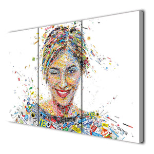 3 Panels Canvas Art Brands Person Figure Women Wall Art Painting Print Pictures