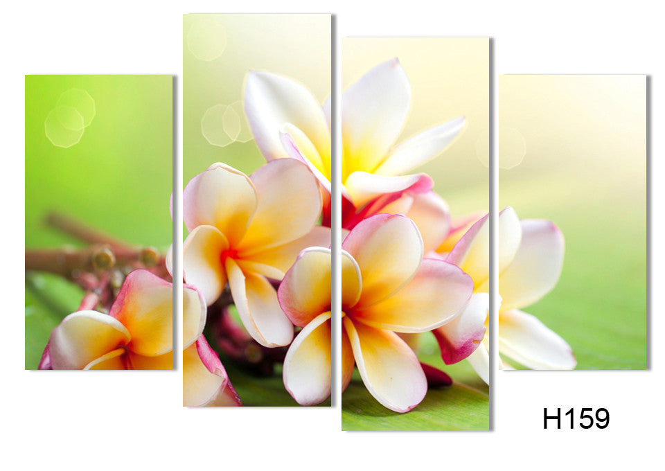 Flower Paintings Canvas Art Prints 4 Piece Home Wall Decor Picture ...