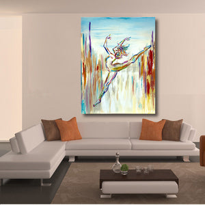 Canvas Painting Dancer by Herself Oil Painting Pictures Living Room Decor