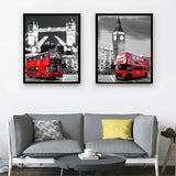 2 Piece Painting The Wall London City Pictures Home Wall Art Canvas Classic Paintings