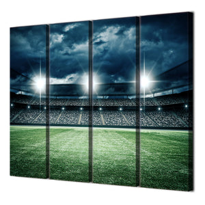 4 Piece Canvas Art Football Field Canvas Painting Wall Pictures Posters And Prints