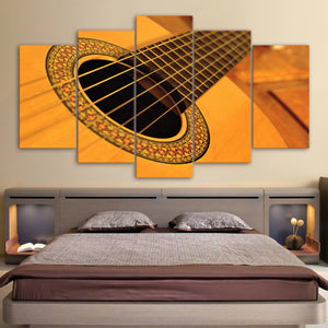 Canvas Painting Wall Art Pictures HD Prints Classical 5 Pieces Vintage Acoustic Guitar String Poster