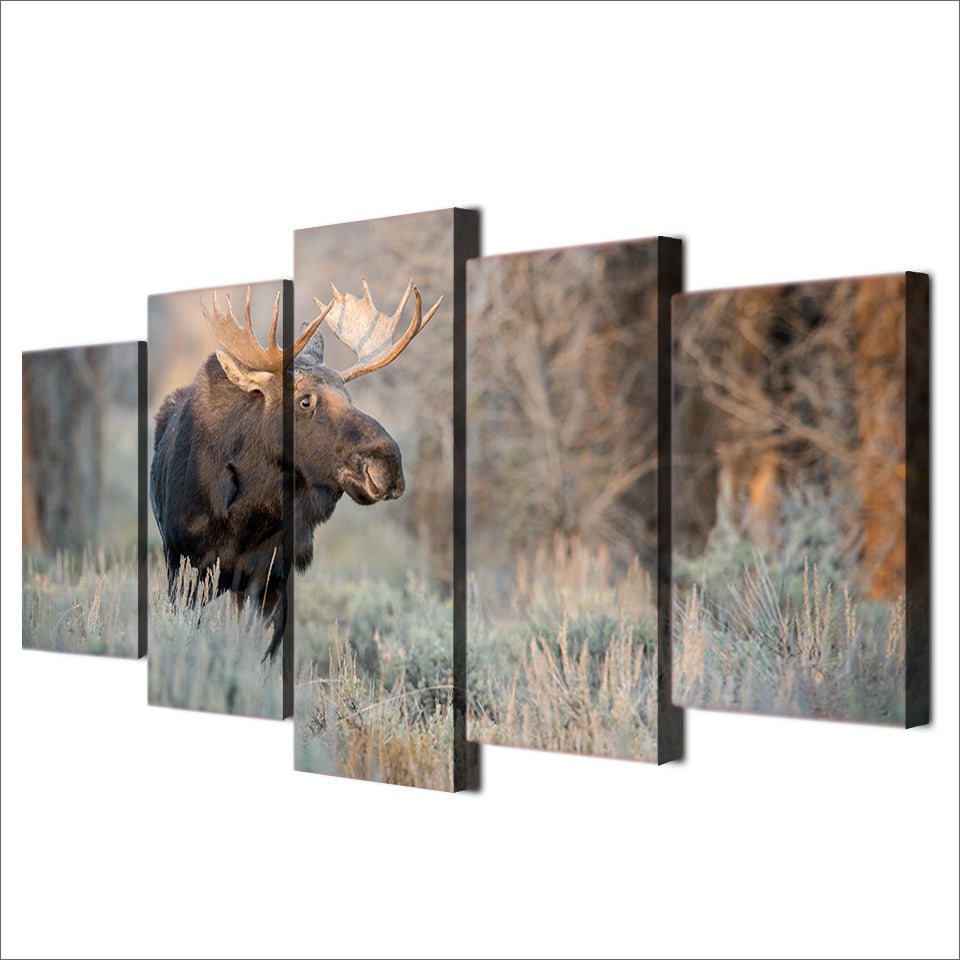 HD Printed 5 Piece Canvas Art Deer Animal Painting Decor Prints And Posters Panel