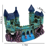 Aquarium Decoration Ancient Style Cartoon Castle Waterfall Fish Tank Landscaping Resin Craft