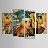Postmodern Wall Art Abstract Egyptian Woman Portrait Canvas Painting