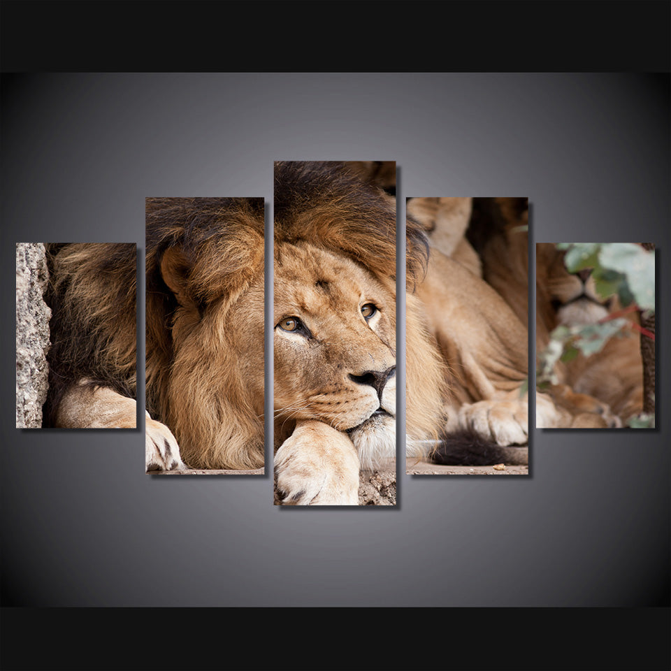 Canvas Painting Wall Art Abstract Decor 5 Panel Animal Lion Landscape Modular Pictures Oil Prints