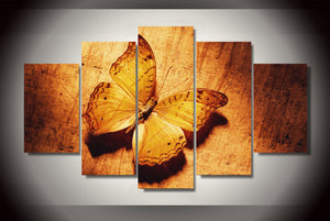 Wall Art Canvas Painting Poster Wall Pictures 5 Panel Beautiful The Butterfly Modular Pictures