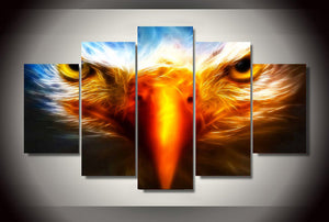 5 Pieces Sharp Animal Eagle Wall Art Picture Modern Canvas Print Painting Wall Picture