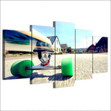 Wall Art Decor Canvas Art Pictures Modular Poster 5 Pieces Skateboard Youth Sports Painting HD Printed