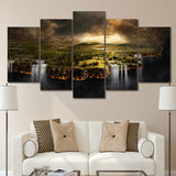 Pictures Home Decor Canvas Painting 5 Pieces Edge Of The Earth Landscape Top-Rated Wall Pictures