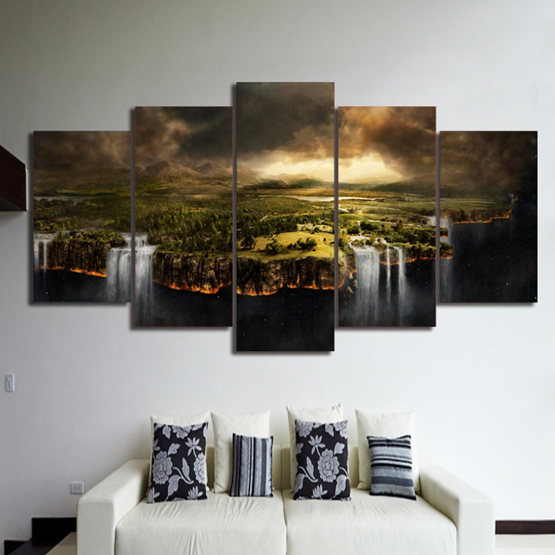 ... Pictures Home Decor Canvas Painting 5 Pieces Edge Of The Earth Landscape  Top Rated Wall ...