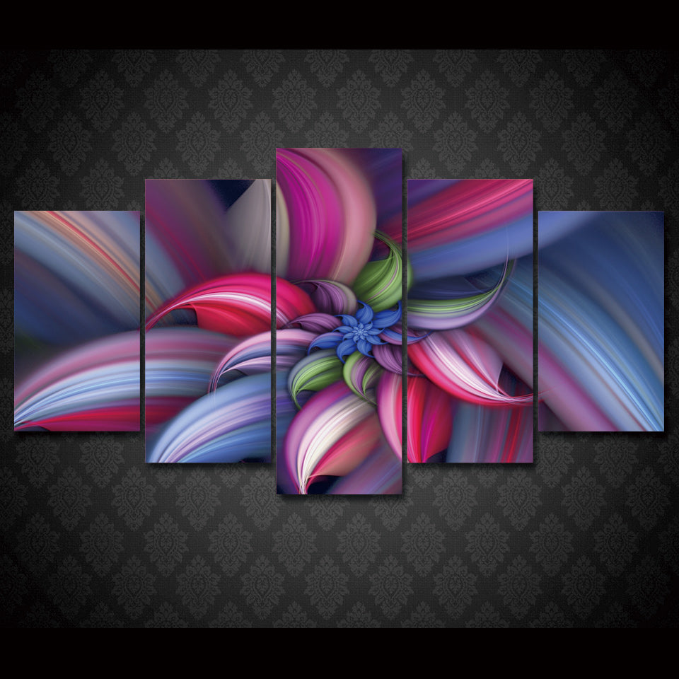 HD Printed Beautiful Flower Group Painting Print Poster Picture Canvas