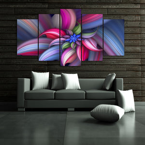 HD Printed Abstract Beautiful Flower Group Painting Print Poster Picture Canvas