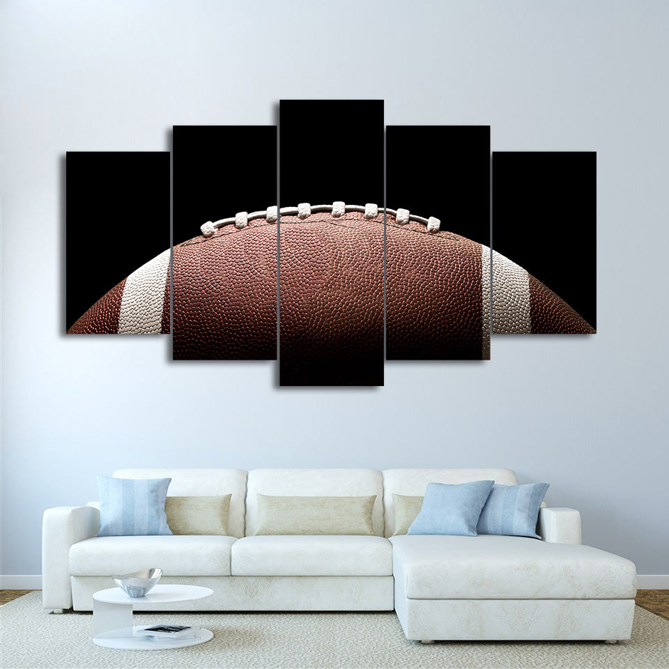 HD Printed 5 Piece Canvas Art Football Painting Wall Pictures Decoration Framed Modular Painting