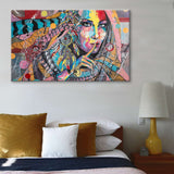 Oil Painting Printed on Canvas Home Wall Decoration American Indian Photography