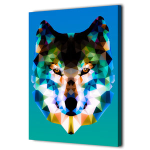 HD Printed 1 Piece Canvas Art Low Poly Art Wolf Painting Wall Pictures For Living Room