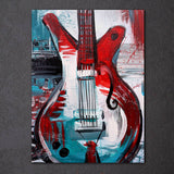 HD Printed 1 Piece Canvas Art Abstract Guitar Painting Vintage Wall Pictures