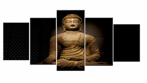 5 Pieces Buddha Canvas Wall Art Decorative Pictures Oil Painting Decorative Wall Pictures
