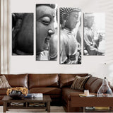 4 PCS Buddha Canvas Paintings For Living Room Wall Decorative Pictures Unframed
