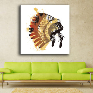 Poster Feather Indian Arts Print Canvas For Wall Art Decoration Oil Painting Wall Painting Picture