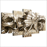Canvas Painting 5 Panel Indians Abstract Decorative Paintings Wall Modular Pictures Wall Art Frame