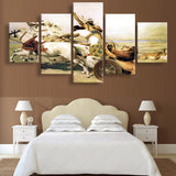 Canvas Painting Wall Art Poster Style 5 Panel Indians Wall Pictures Decoration Paintings