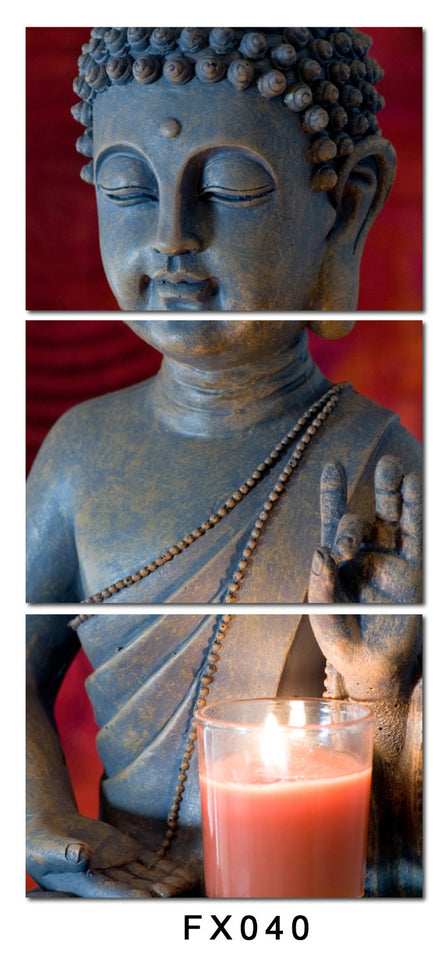 Modular Buddha Canvas Print Painting Wall Art Pictures For Home Decoration