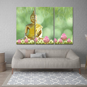 Framed 3pcs Canvas Art Printed Buddha Painting Picture Buddha Wall Canvas Picture Print