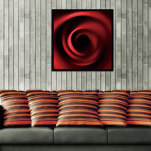 Canvas Print Wall Art Painting Front Red Rose Bright Rose Water On The Petal Paintings Artwork