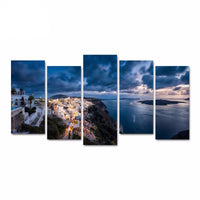 5 Pieces Canvas Art Greek Aegean Landscape Picture HD Print on Canvas