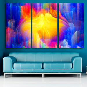 Oil Painting 3 Pcs Color Line Home Decor On Canvas Wall Art Print Poster Canvas Painting