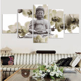 5 Panel Large Buddha Painting Canvas Art Wall Pictures for Living Room Home Decor