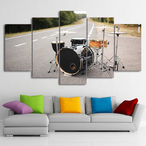 HD Printed 5 Piece Canvas Art Music Drum Painting Street Singing Wall Pictures Modular Painting