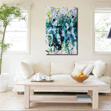 Blue Color Oil Painting Wall Painting Canvas Art Picture On Canvas