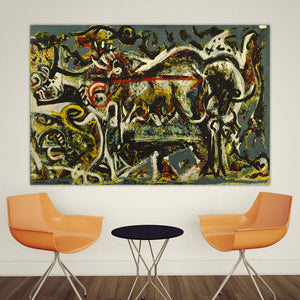Wall Art Picture The She Wolf  Home Decor Artwork Abstract Oil Painting Canvas