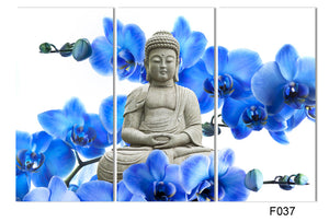 3 Panel  Large Buddha Painting Decor Arts Printed on Canvas Water Resistant