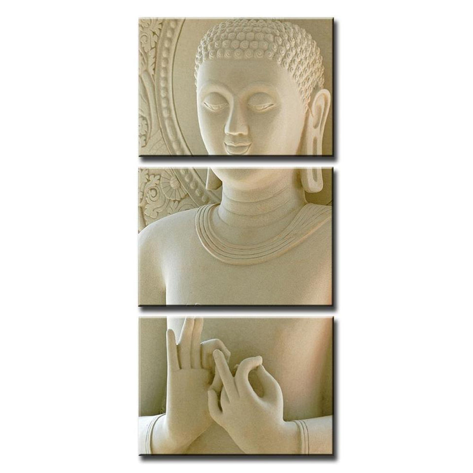 Modular Painting Wall Art Printed Frame For Painting Picture 3 Panel Buddha Artwork Canvas