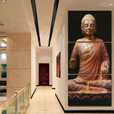 3 Panel Wall Art Religion Buddha Style Painting On Canvas Unframed Room Panels For Home Decor