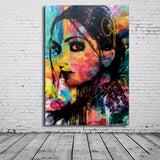 Portrait Canvas Art Print Painting Poster Wall Pictures Decor Silk Fabric No Frame