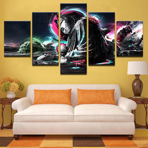 Canvas Wall Art Modular Pictures Modern HD Printed Poster 5 Pieces Buddha Zen Abstract Painting