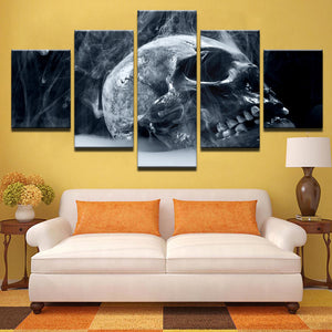 Canvas HD Printed Painting Pictures Frame Modern Artworks 5 Pieces Halloween Horror Skull Poster Wall Art