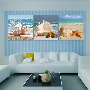 Wall Art Canvas Painting Seascape Shell Picture Canvas Pictures Wall Art Canvas Prints