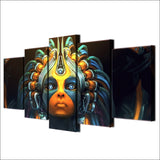HD Printed 5 Piece Canvas Art Robot Girl Artwork Prints Painting Wall Pictures Living Room