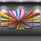 Spray Oil Painting Artistic Print Painting Canvas HD Printed Home Decor Color Line