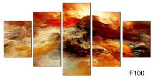 5 Pcs Large Canvas Art Abstract Painting Color Cloud Wall Decor Pictures