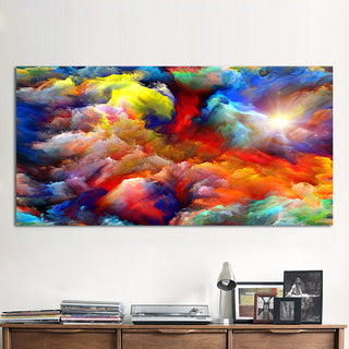 Canvas Art Wall Pictures The Clouds Pattern Painting Printed No Frame