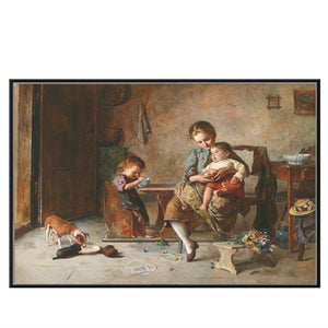 Retro Figures Oil Painting Canvas HD Print Classical Portrait Wall Art Picture Decor