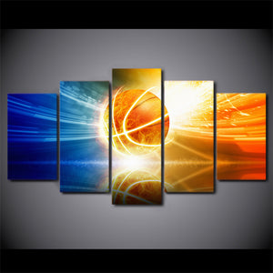 HD Printed 5 Piece Canvas Art Shooting Halo Basketball Painting Wall Pictures